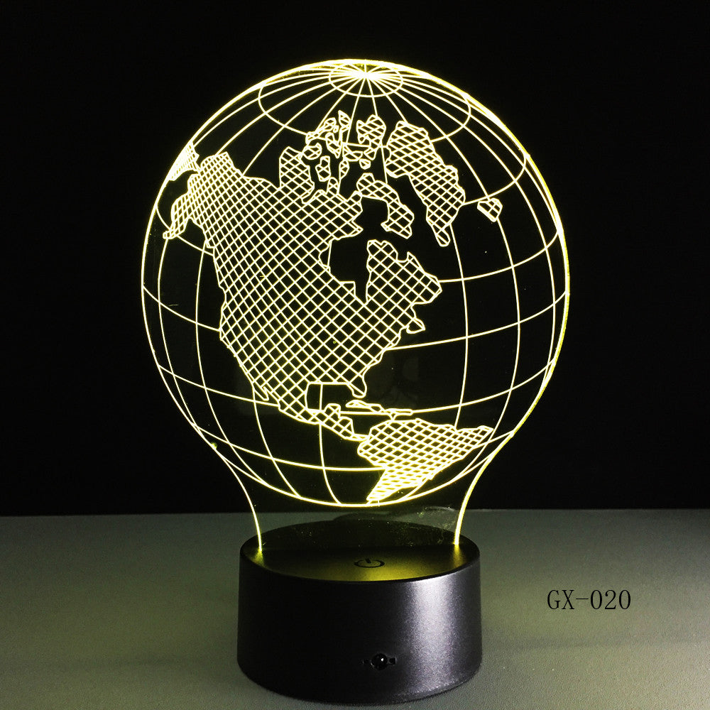USA Earth Map Light 3D LED Lamp Featuring 3D Wire Images Earth Globe Lamp Handmade Color Changing Lamp 3D Decor Lamps GX-020