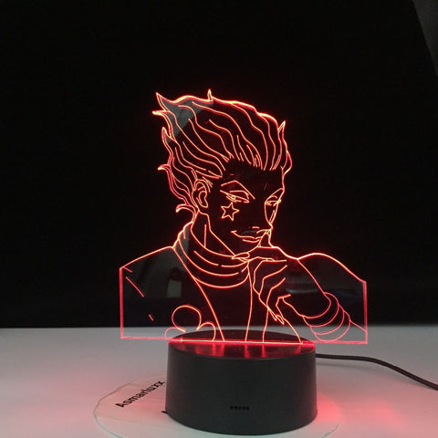 Anime Hunter X Decor Light 3d Lamp Hisoka Gadgets Kids Night Light Gift Led Touch Sensor Colorful Bedroom Nightlight Dropship