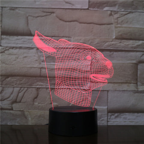 3D LED Lamp Dog Illusion Night Light Visual USB Cable Bedroom Desk Table Home Decor Creative For Kids Christmas Gift 2584