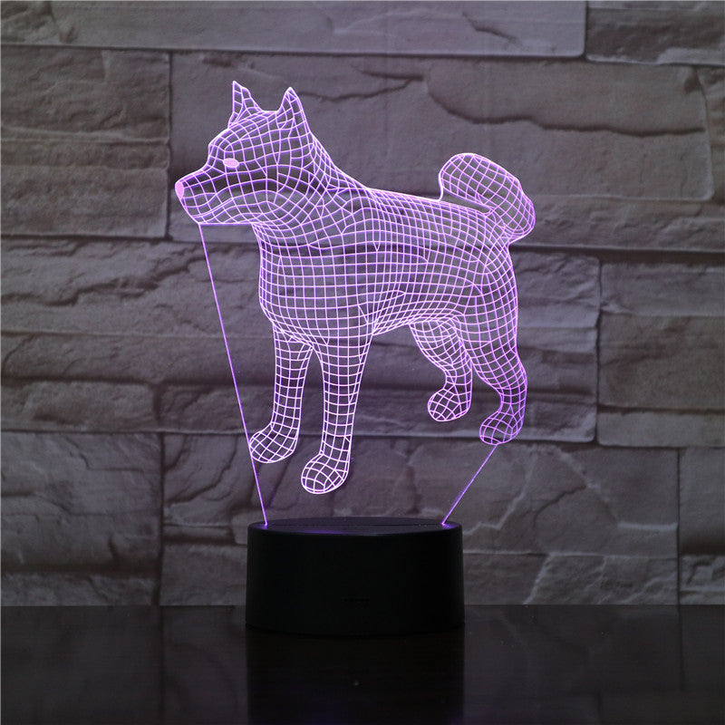 Bull Terrier Dog 3D Lampen 7 Color USB Night Lamp LED for Kids Birth Creative Bedside Decor Gift Support Free Dropshipping 1910