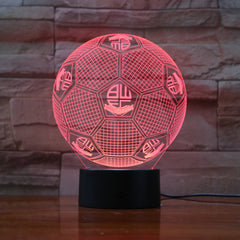 Football 28 - 3D Optical Illusion LED Lamp Hologram