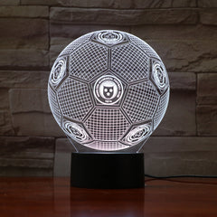 Football 12 - 3D Optical Illusion LED Lamp Hologram