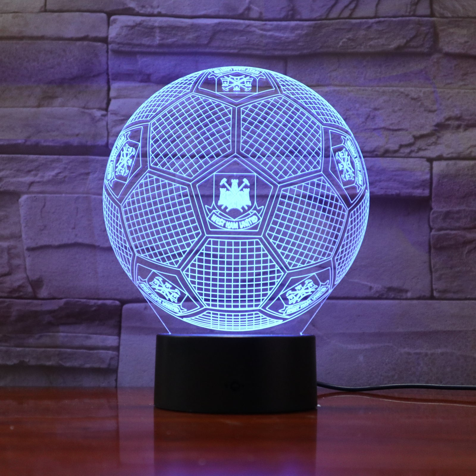 Football 13 - 3D Optical Illusion LED Lamp Hologram