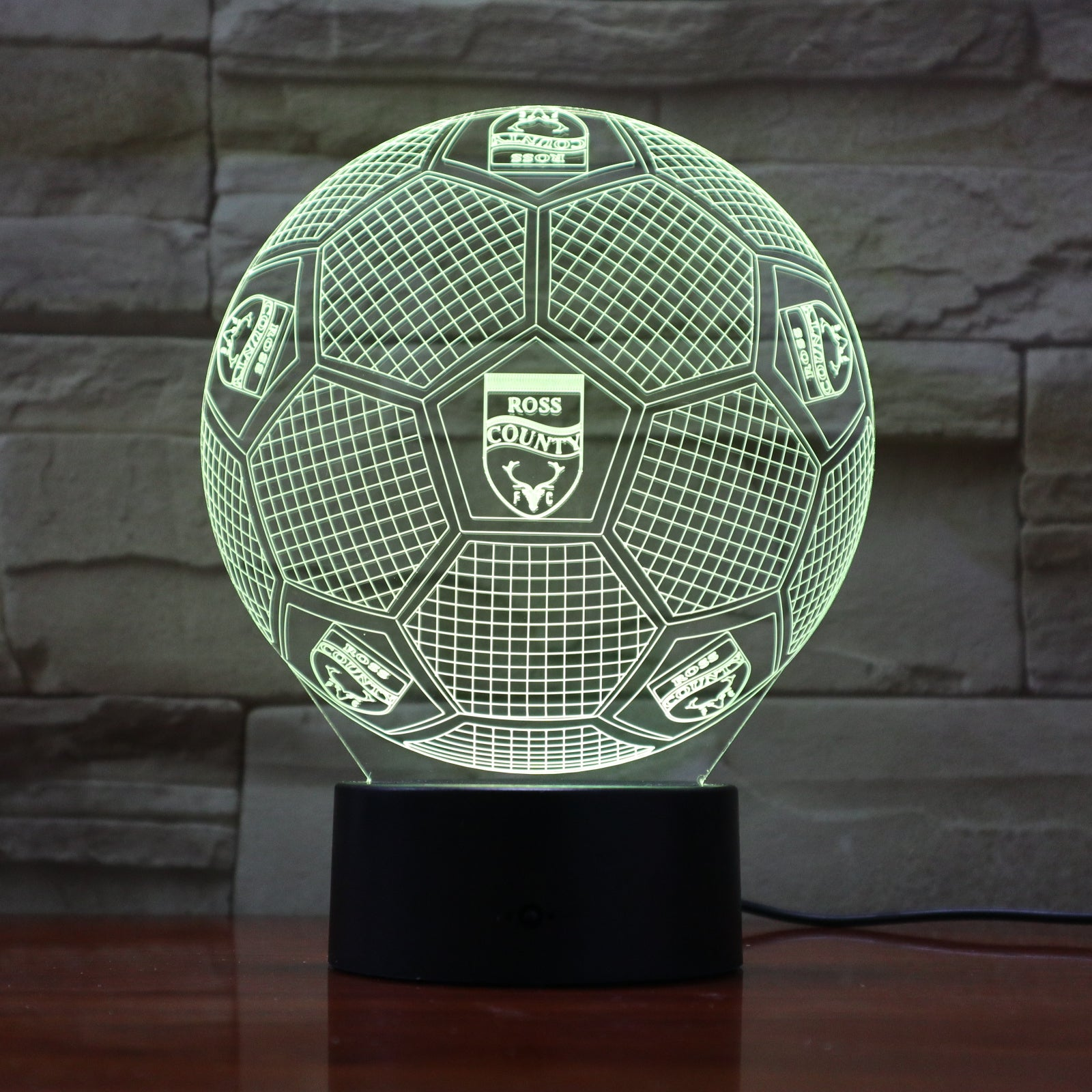 Football 14 - 3D Optical Illusion LED Lamp Hologram