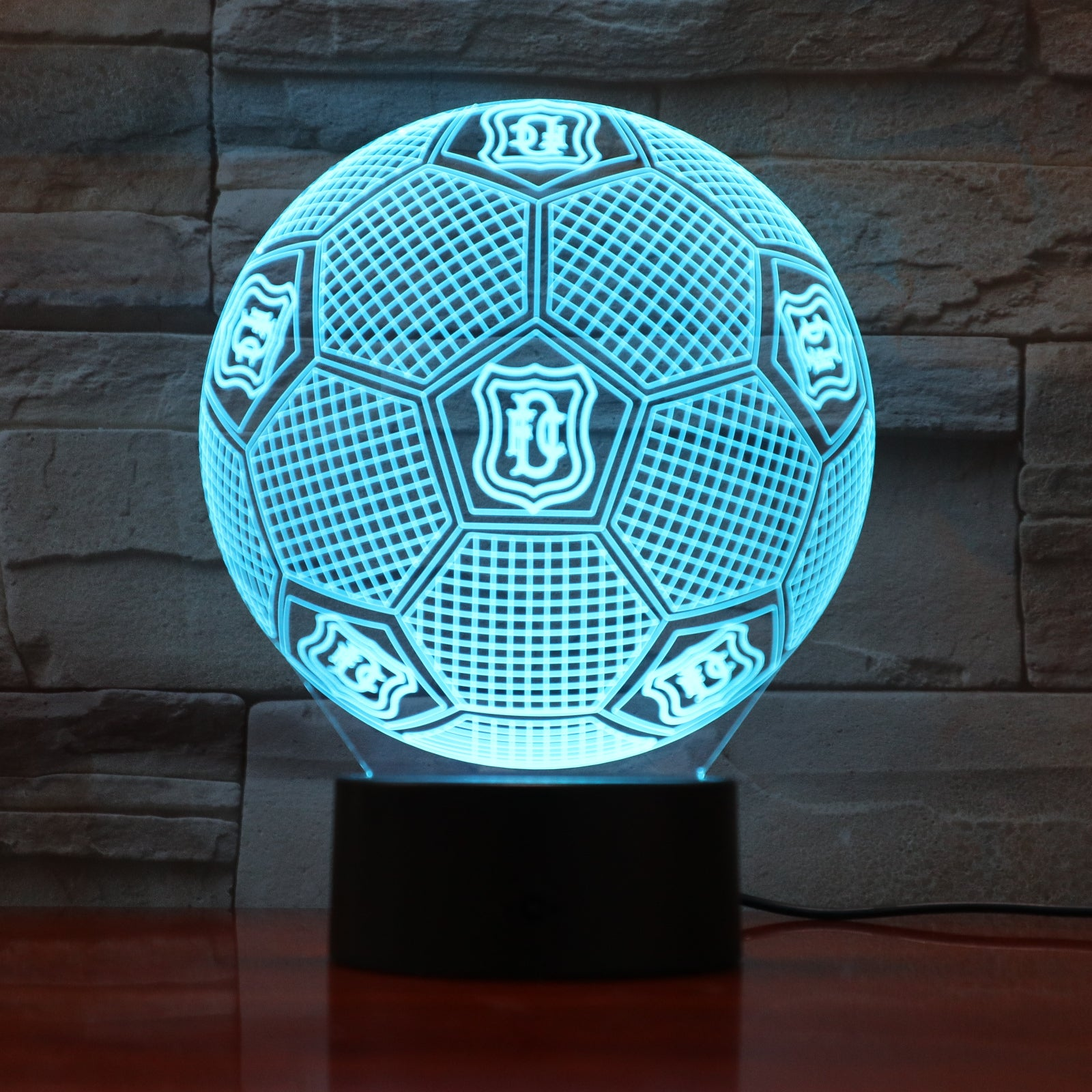 Football 15 - 3D Optical Illusion LED Lamp Hologram