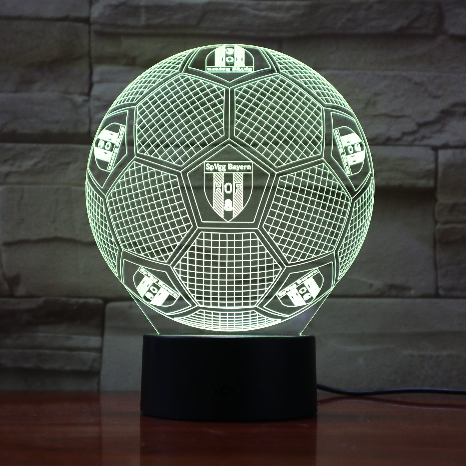 Football 18 - 3D Optical Illusion LED Lamp Hologram