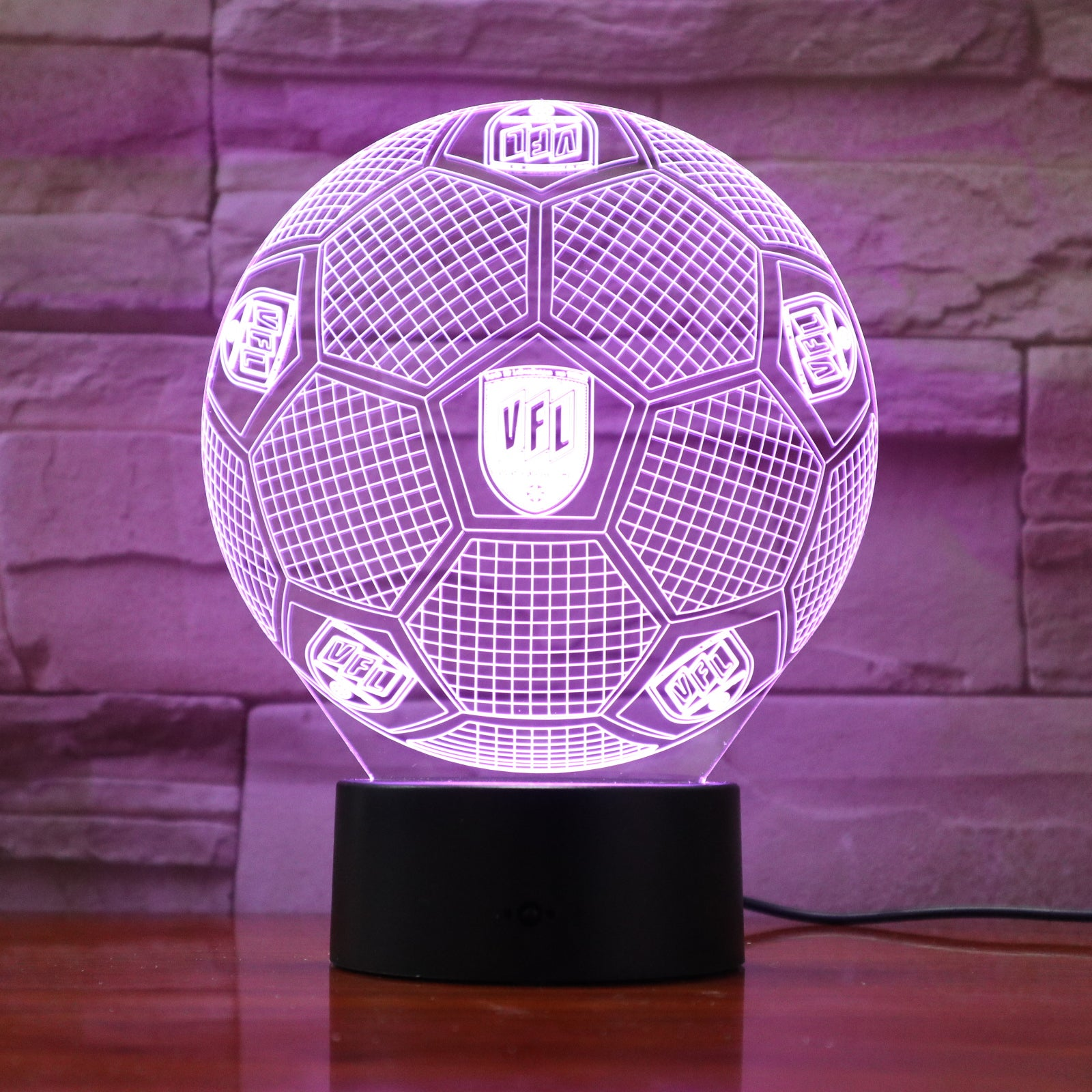 Football 3 - 3D Optical Illusion LED Lamp Hologram