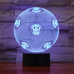 Football 5 - 3D Optical Illusion LED Lamp Hologram