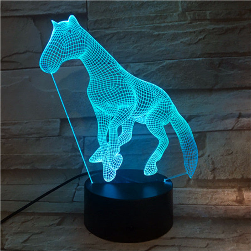 Creative Night Light 7 Color 3D Lamp Kids Room Dog Toy Led Lighting Table Lamp for Child Bedside Decor Gift 588