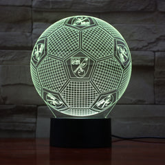 Football 10 - 3D Optical Illusion LED Lamp Hologram