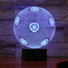 Football 25 - 3D Optical Illusion LED Lamp Hologram