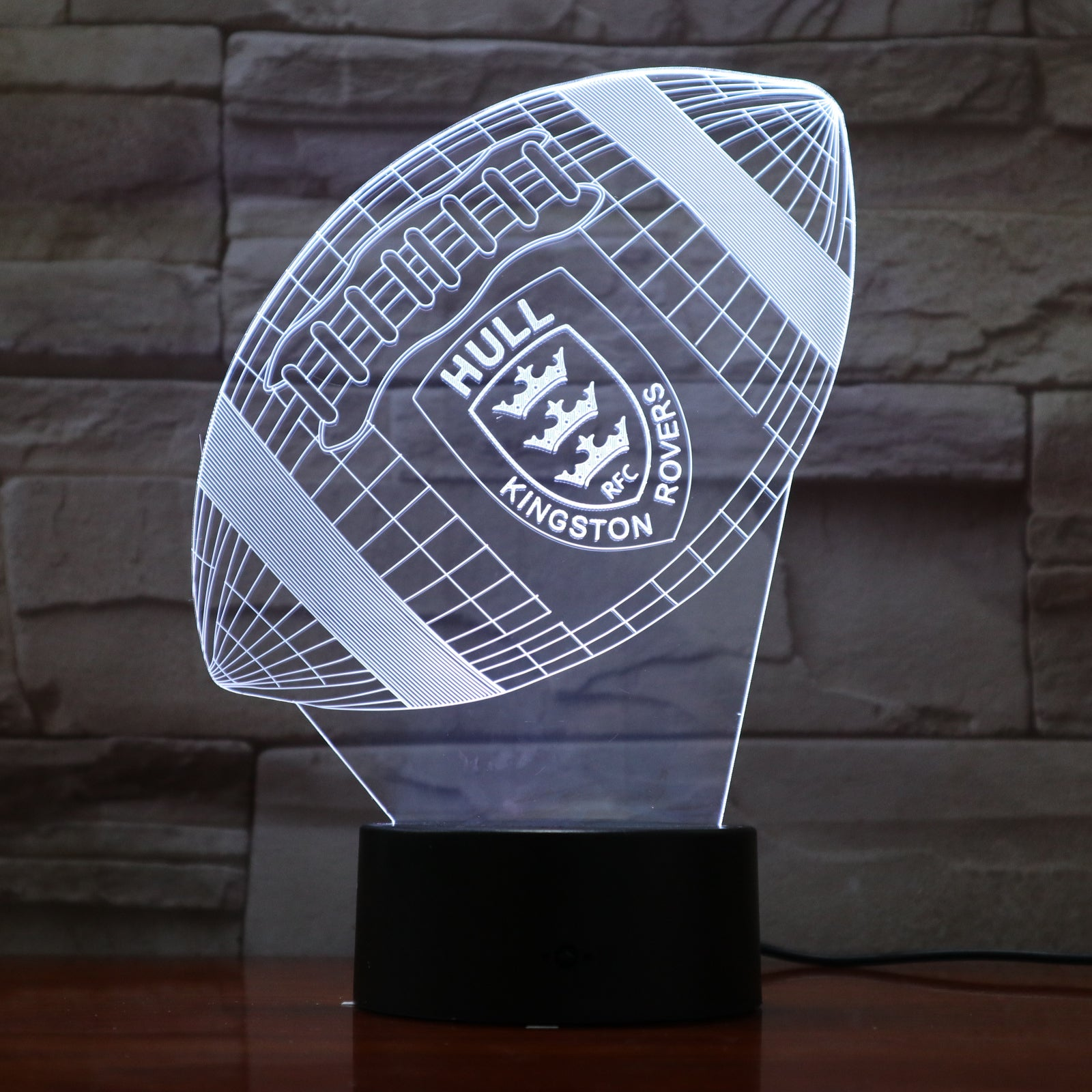 American Football 10 - 3D Optical Illusion LED Lamp Hologram