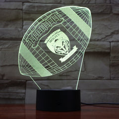 American Football 7 - 3D Optical Illusion LED Lamp Hologram