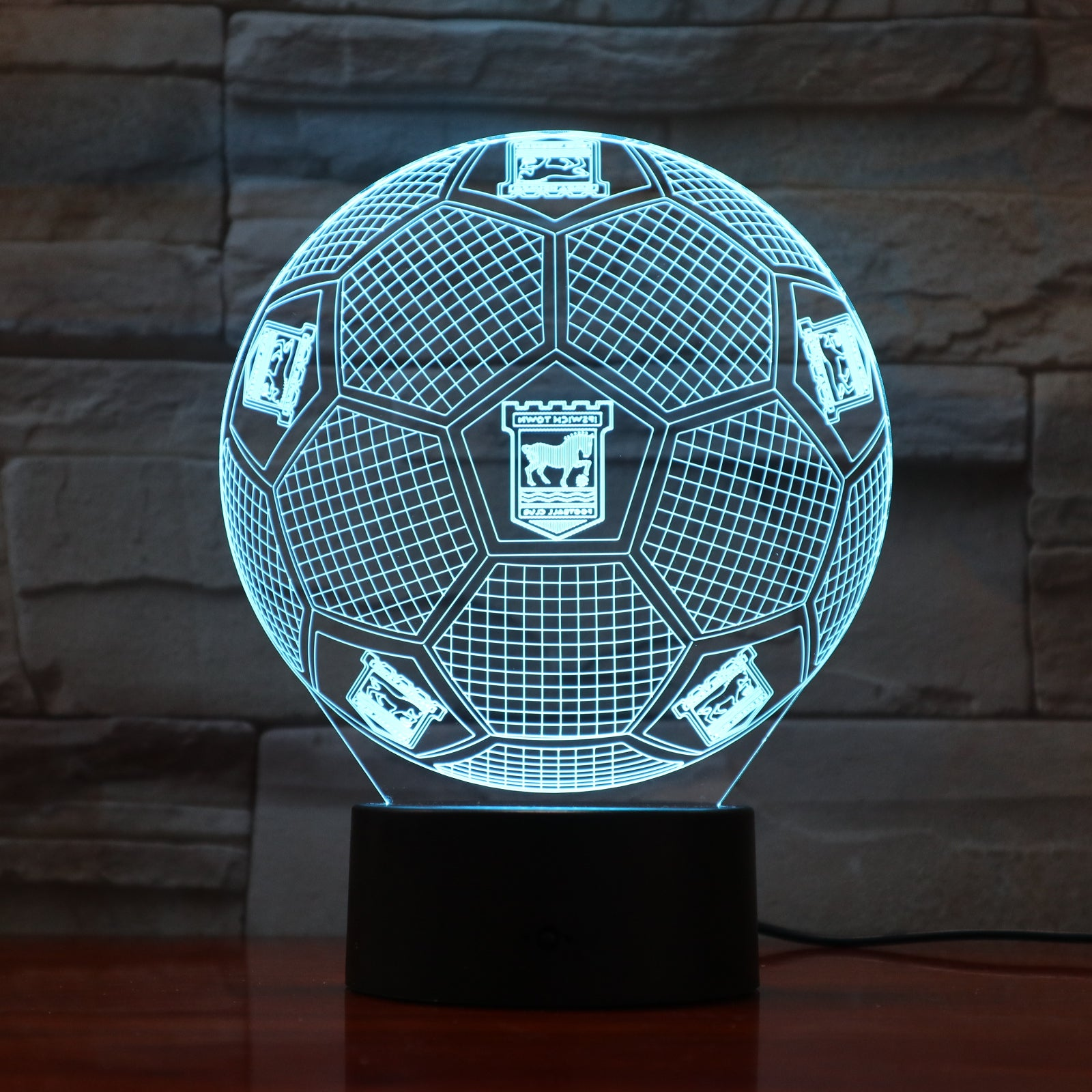 Football 1 - 3D Optical Illusion LED Lamp Hologram