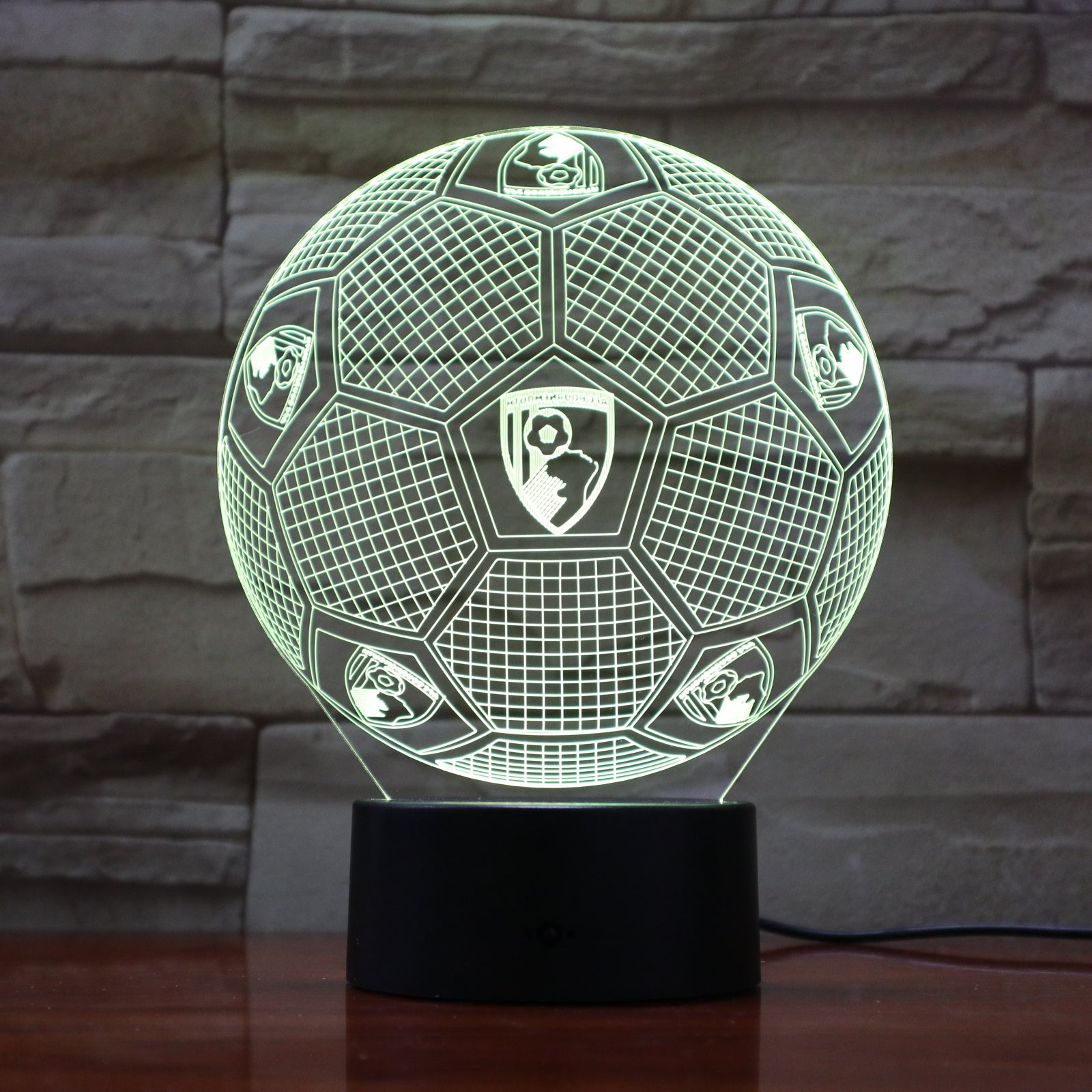 Football - 3D Optical Illusion LED Lamp Hologram