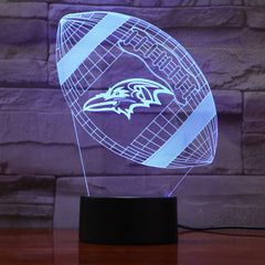 American Football 2 - 3D Optical Illusion LED Lamp Hologram