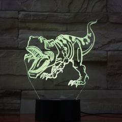 USB Dinosaur Lamp Novelty Touch Switch Desk LED Night Light 7 Colorful Table Acrylic Lampe Kids Christmas Toys Birth Gift 748