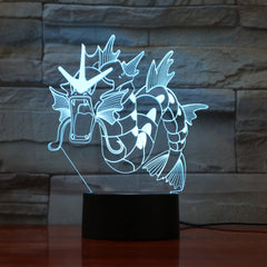 Dinosaur Dragon Horn Lamp 3D USB LED Colors Night Light Animal Office Table Lighting Holiday Decor Kid Toy Birthday Gift 830