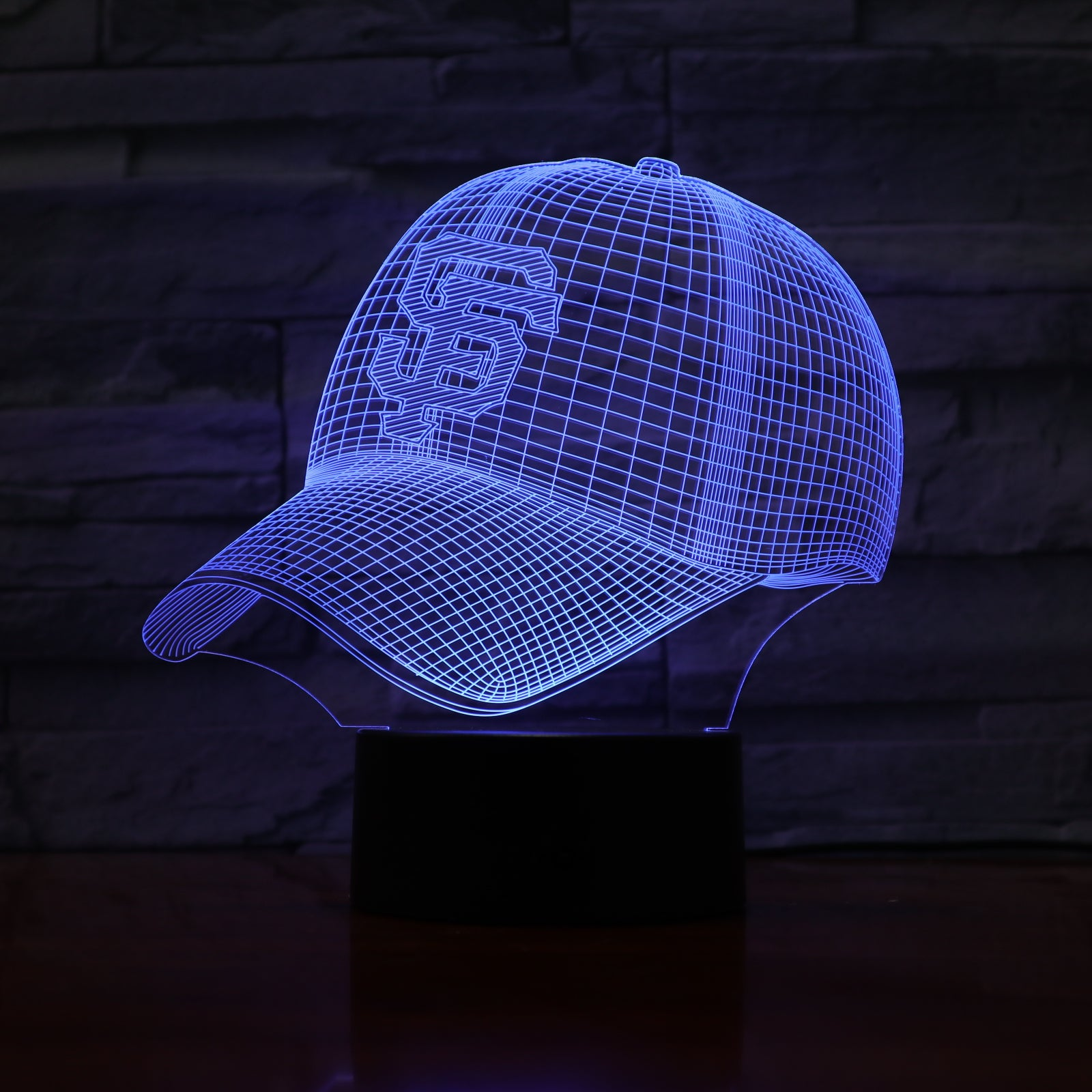 Cap - 3D Optical Illusion LED Lamp Hologram