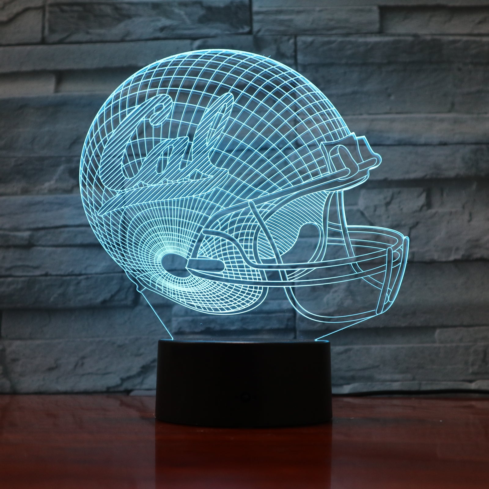 American Football Helmet 5 - 3D Optical Illusion LED Lamp Hologram