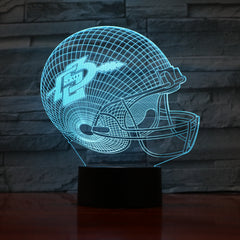 American Football Helmet 4 - 3D Optical Illusion LED Lamp Hologram