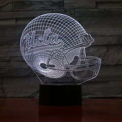 American Football Helmet 3 - 3D Optical Illusion LED Lamp Hologram