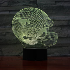 American Football Helmet 2 - 3D Optical Illusion LED Lamp Hologram