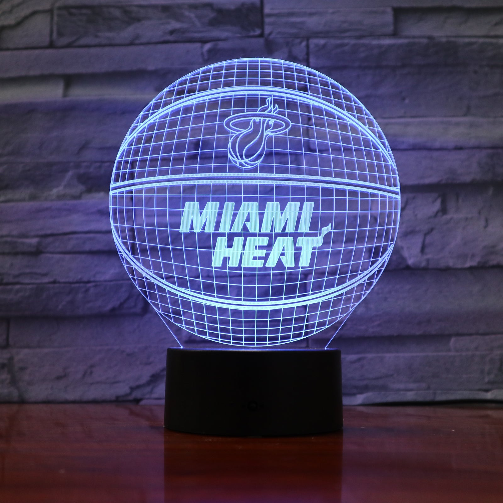 Basketball 1 - 3D Optical Illusion LED Lamp Hologram