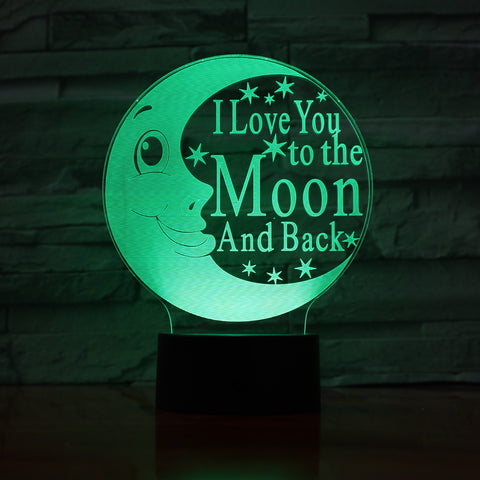 Moon - 3D Optical Illusion LED Lamp Hologram