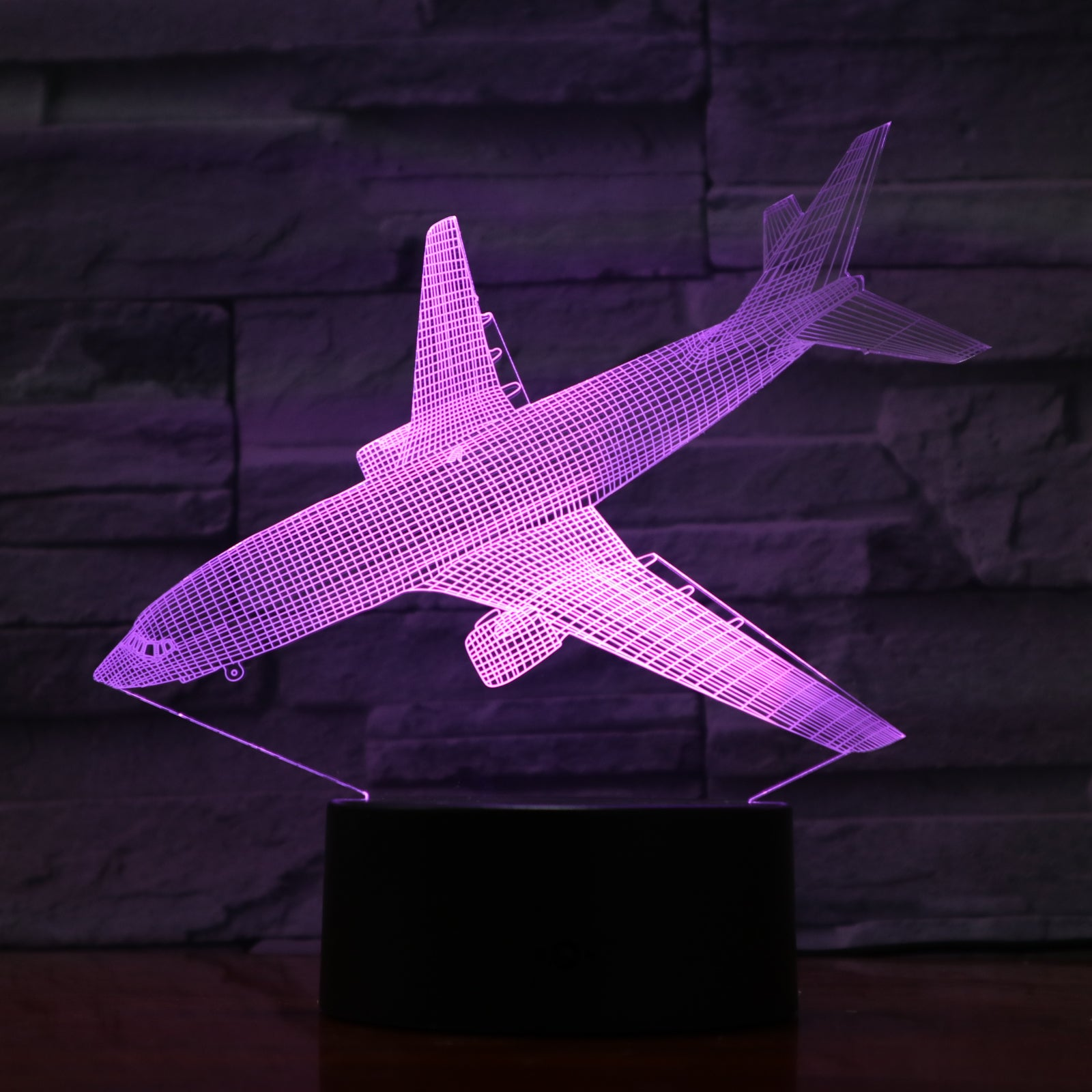 Plane - 3D Optical Illusion LED Lamp Hologram
