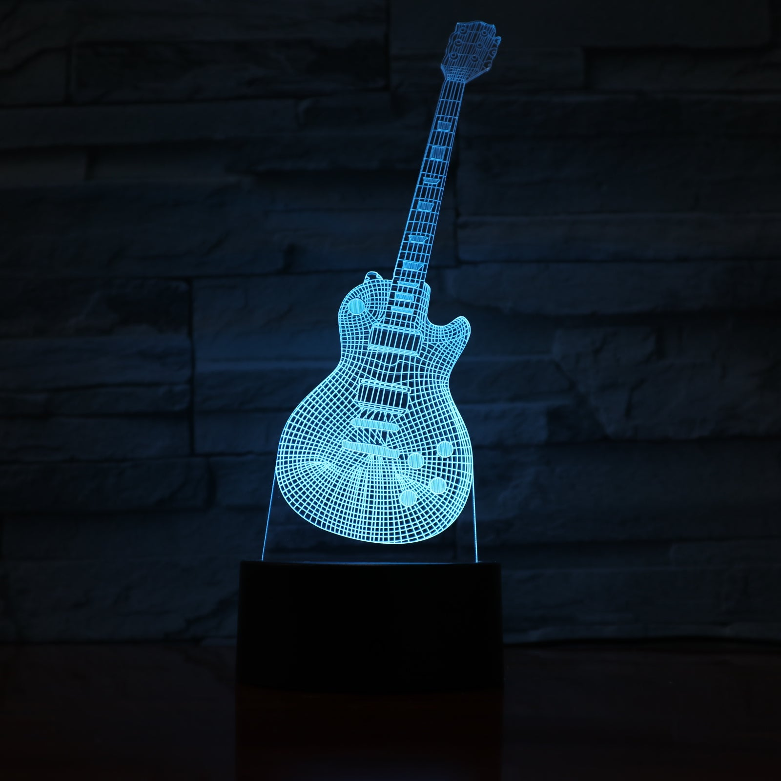 Guitar 3 - 3D Optical Illusion LED Lamp Hologram
