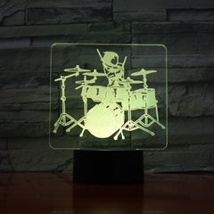 Rock Music - 3D Optical Illusion LED Lamp Hologram
