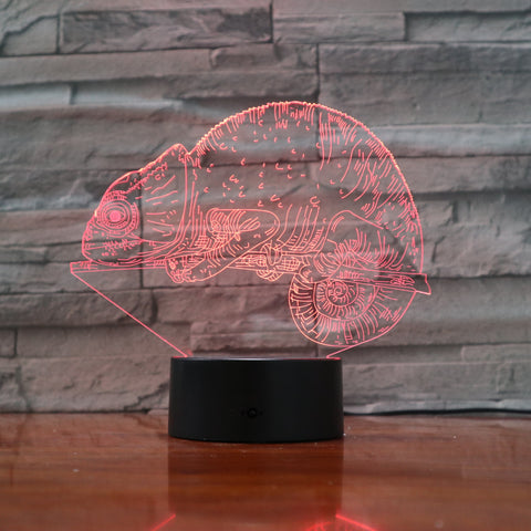 Сhameleon - 3D Optical Illusion LED Lamp Hologram