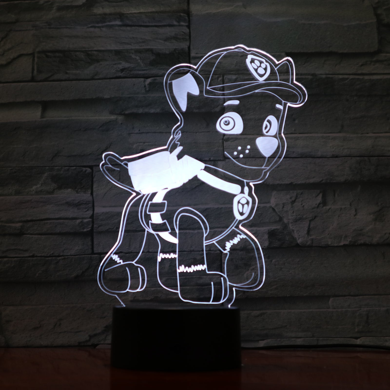 Dog 4 - 3D Optical Illusion LED Lamp Hologram