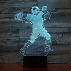 American football - 3D Optical Illusion LED Lamp Hologram