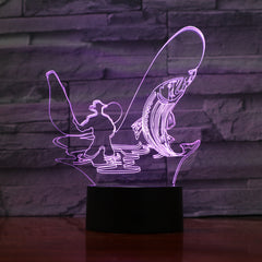 Fisher - 3D Optical Illusion LED Lamp Hologram