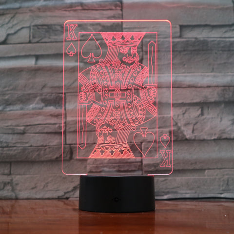 Card deck - 3D Optical Illusion LED Lamp Hologram