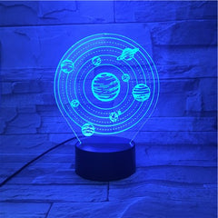 Solar System - 3D Optical Illusion LED Lamp Hologram