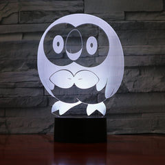 Cartoon Lovely Owl 3D Lamp Acrylic LED Animal Bird Night Light Lamp Baby Sleepping Atmosphere lamp Bedroom Light 841
