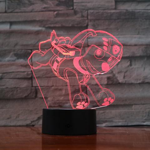 Dog 5 - 3D Optical Illusion LED Lamp Hologram