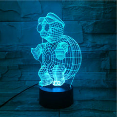 Cartoon 3D Innovative Cute Tortoise Night Light Atmosphere Table LED Lamp luminaria Colorful Illusion Mood Decorative Gift 512