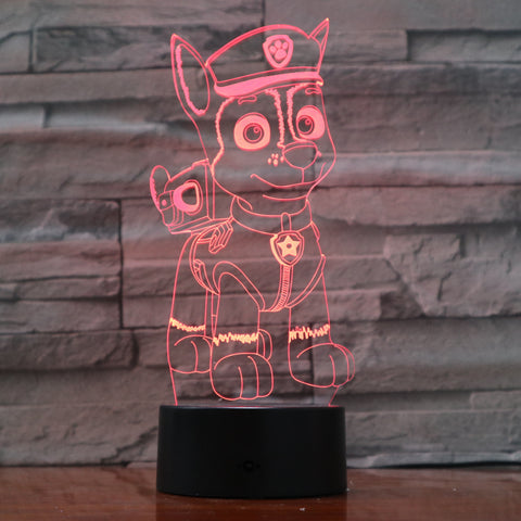 Dog 3 - 3D Optical Illusion LED Lamp Hologram