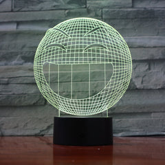 Smile - 3D Optical Illusion LED Lamp Hologram