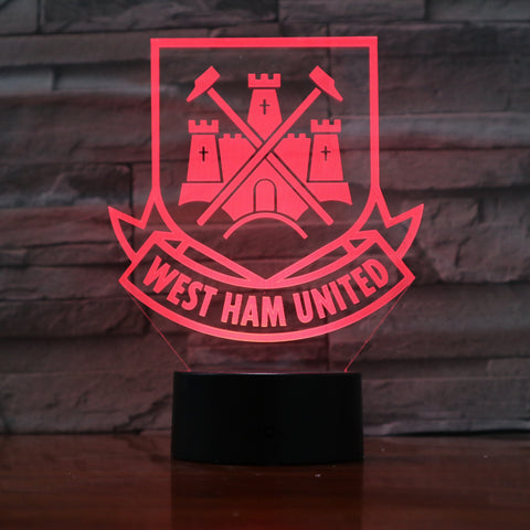 West Ham FC - 3D Optical Illusion LED Lamp Hologram
