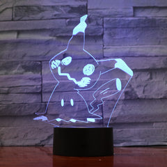 Pikachu - 3D Optical Illusion LED Lamp Hologram