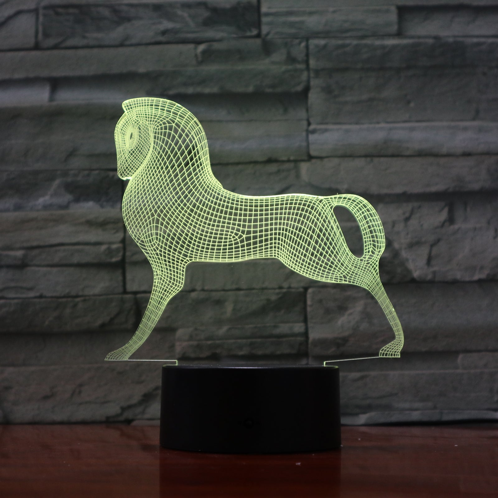 3D LED Lamp Pony Horse Animal 7 Colors Change USB Acrylic Small Night Light christmas Atmosphere Lights For Kids Toys 1100
