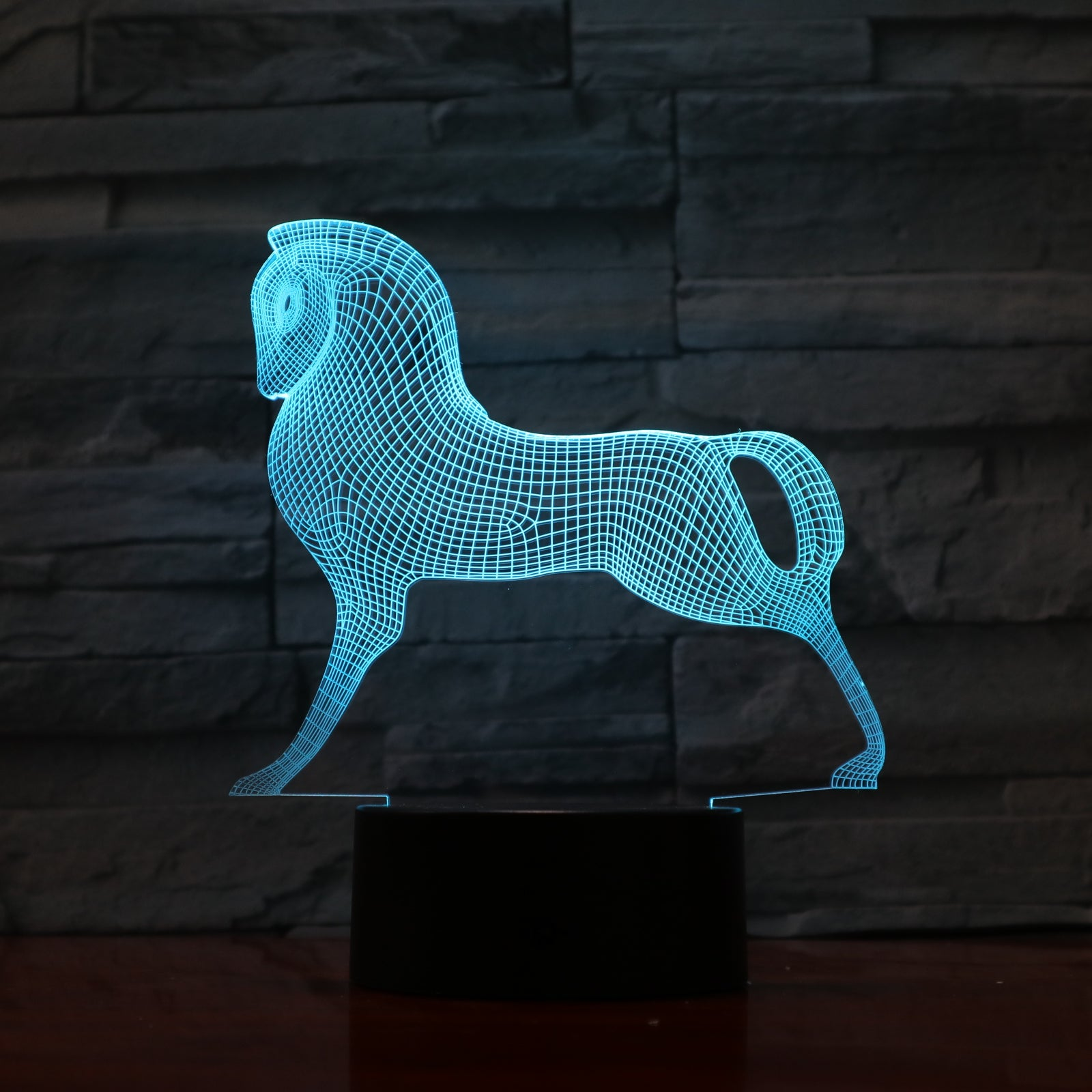 Horse 1 - 3D Optical Illusion LED Lamp Hologram