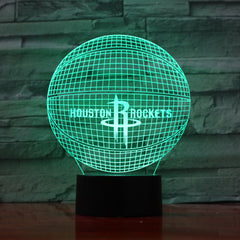 Basketball 3 - 3D Optical Illusion LED Lamp Hologram