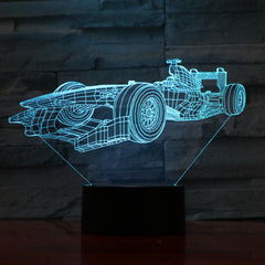 Fast Car - 3D Optical Illusion LED Lamp Hologram