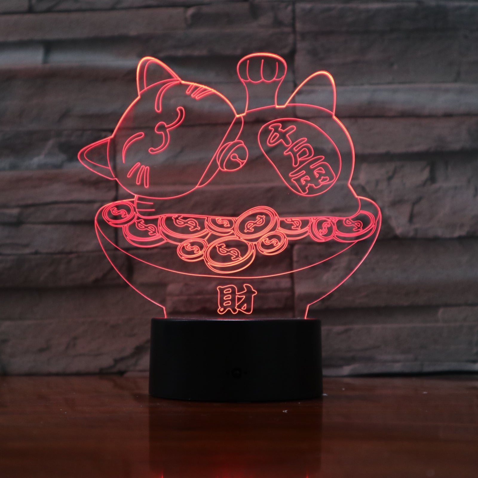 Cat - 3D Optical Illusion LED Lamp Hologram